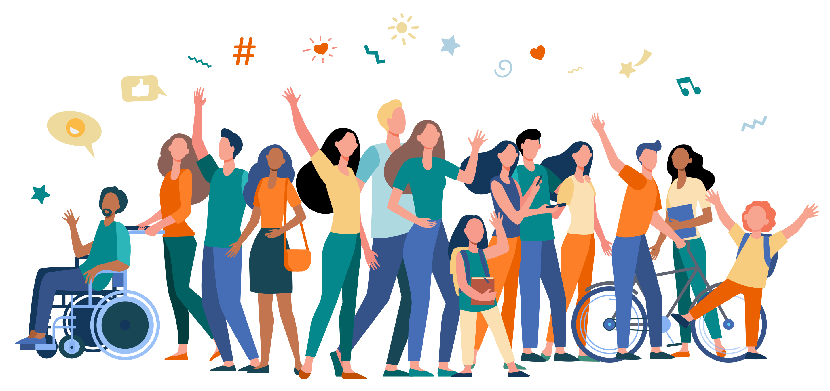 A group of people celebrating their nonprofit website